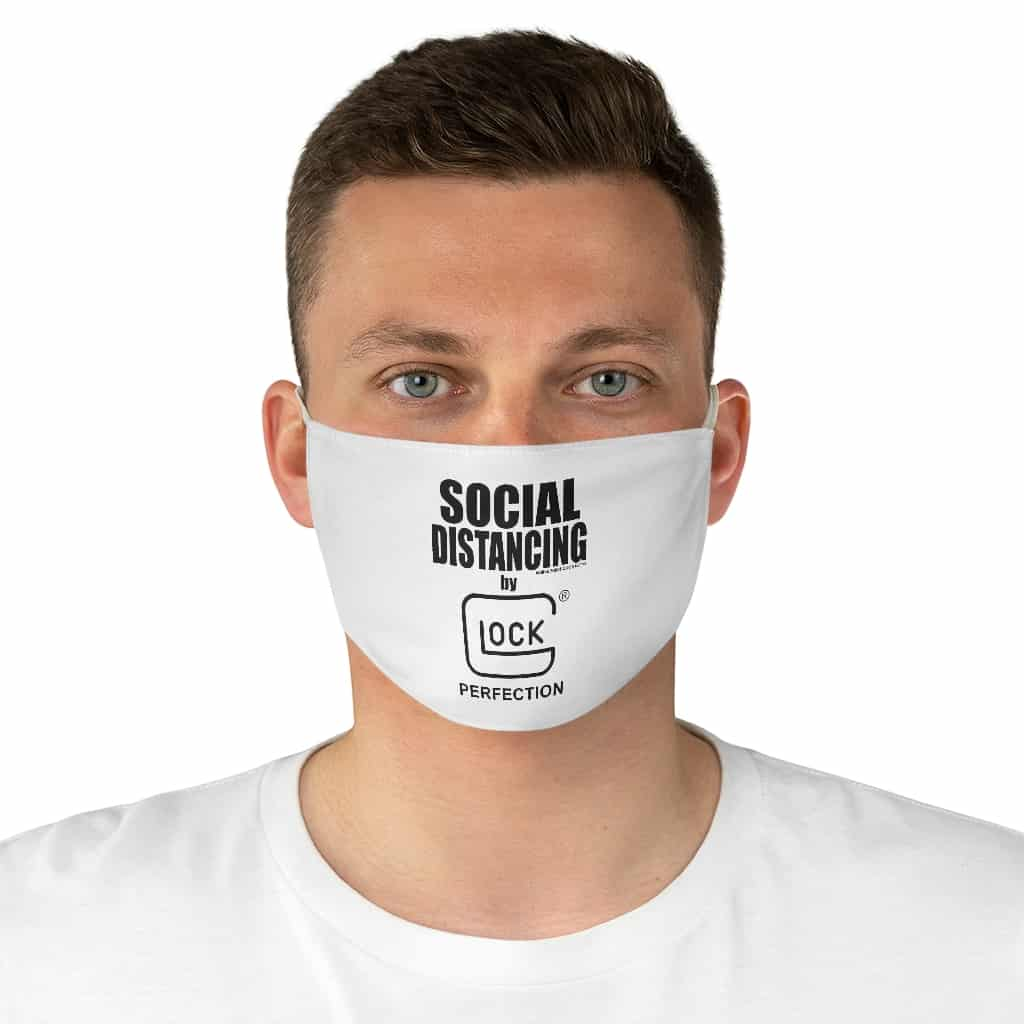 """Social Distancing by Glock"" Fabric Face Mask"